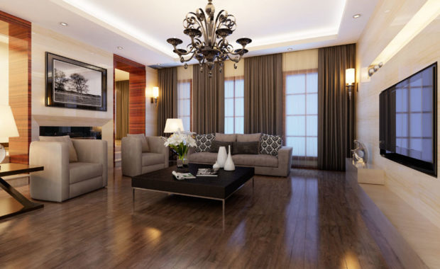 Hardwood flooring home